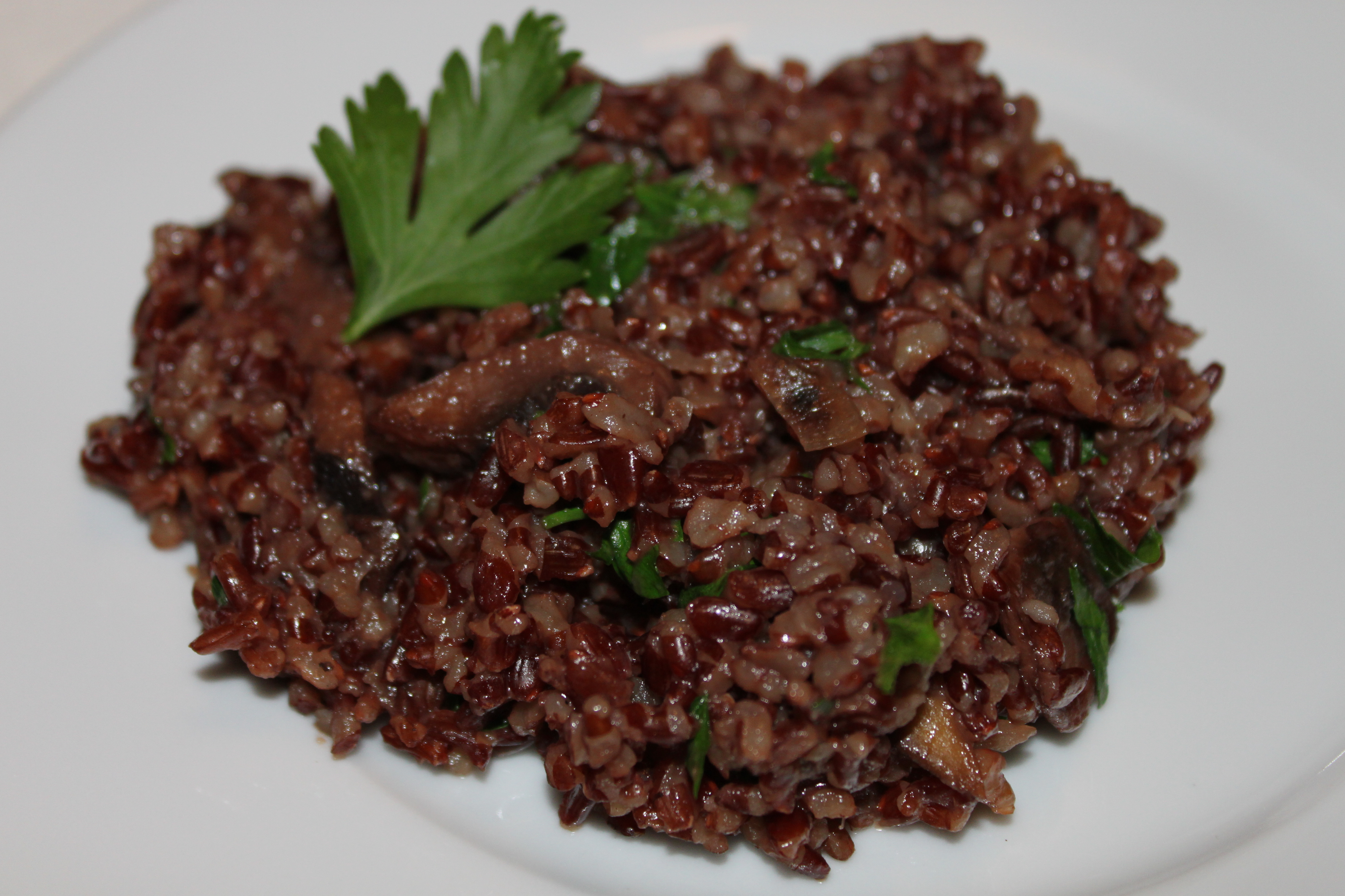 Camargue Red Rice with Mushrooms | Cooking in Tongues