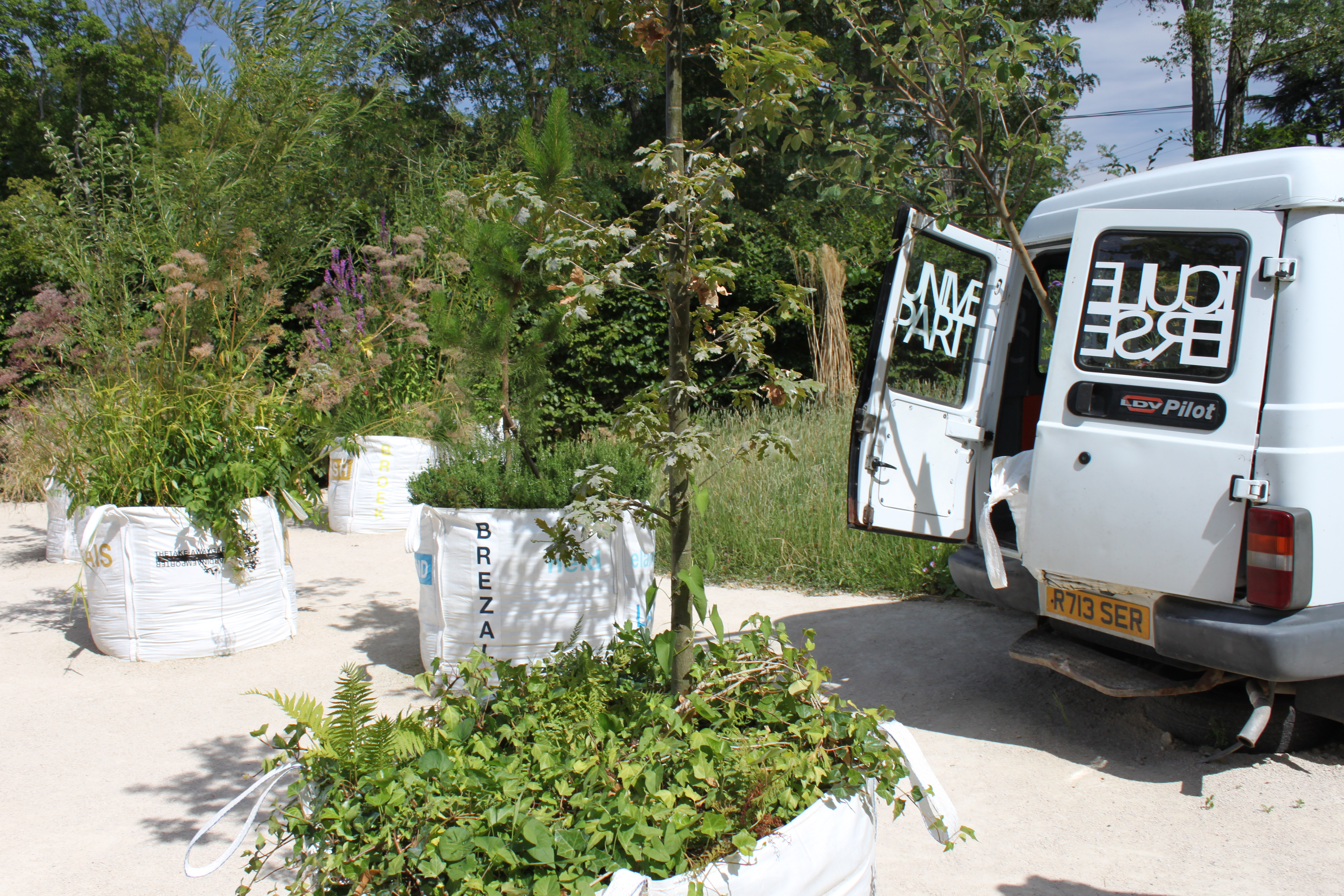 international des jardins where art installation meets garden