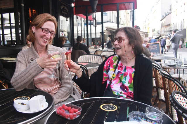 Drinks on the Rue Cler, Paris with Carlin