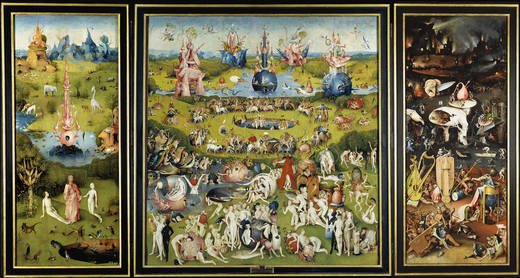 Bosch's The Garden of Earthing Delights.Photo from the Prado Museum website.