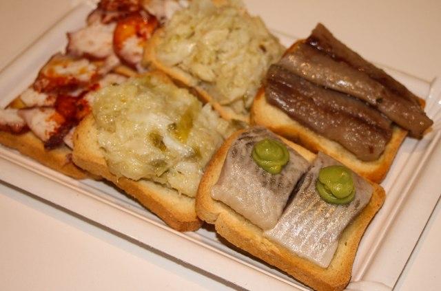 various fish tapas