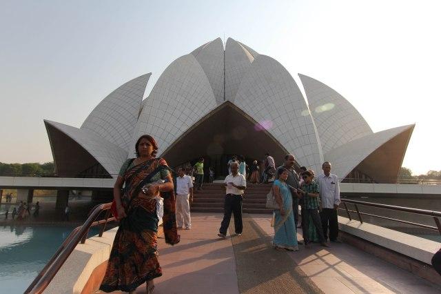Delhi - Lotus Temple - Bahai House of Worship