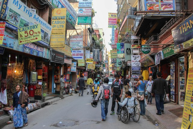 Kathmandu Thamal Street Scene