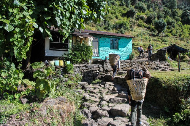 Trekking Annapurna ABC - Chomrong to Bamboo (8)