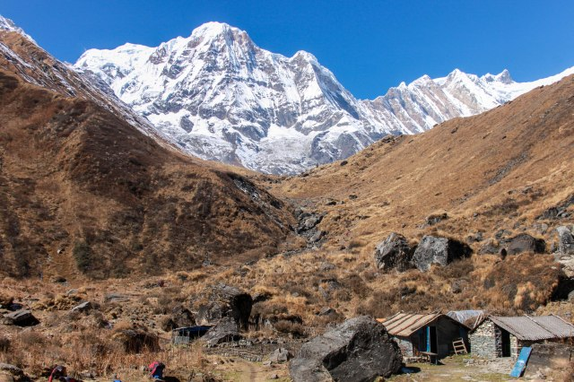 View of Annapurna South from MBC