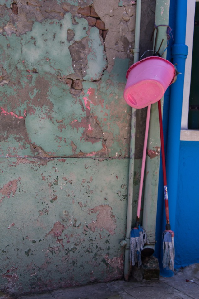 Even the Mop and Bucket Match the Facade