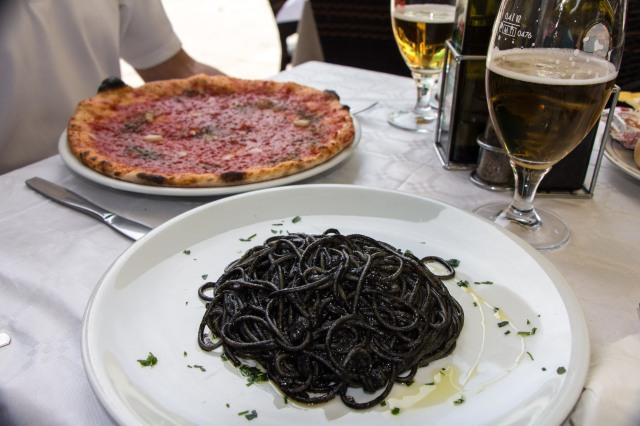 Burano - Spaghetti al Nero di Seppia at Leon Coronato