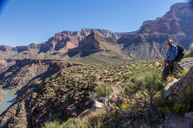 Tonto Trail - Viewpoint along River