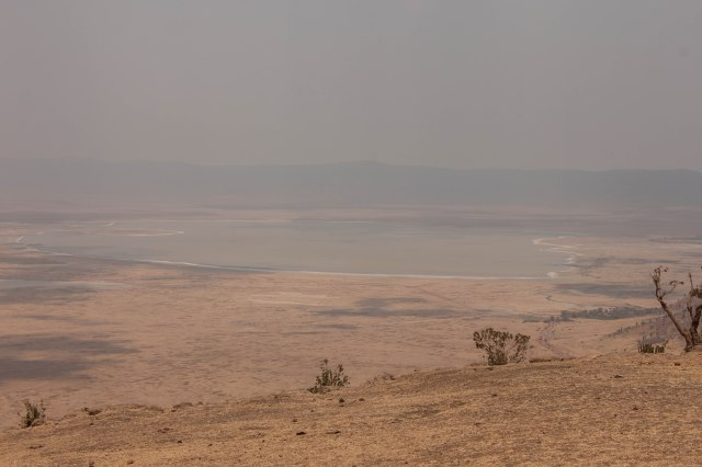 First view of the Ngorongoro crater
