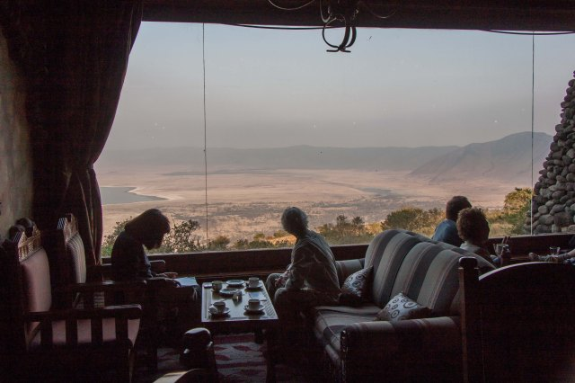 Ngorongoro Serena Lodge - view from lodge
