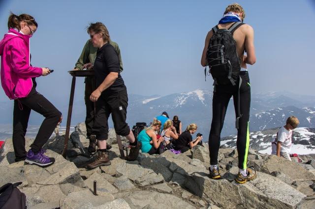 Jotunheimen - view from top of Galdhopiggen