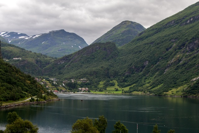 View of Geiranger from hotel
