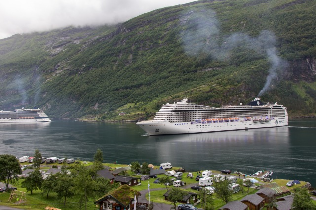 Geiranger fjord - view from Grande Fjord Hotel