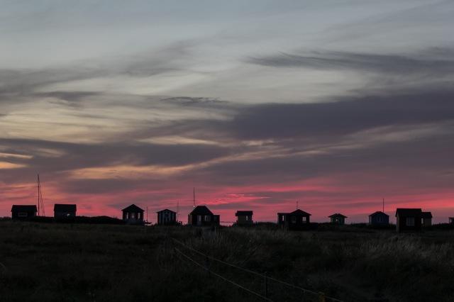 Aeroskobing at sunset
