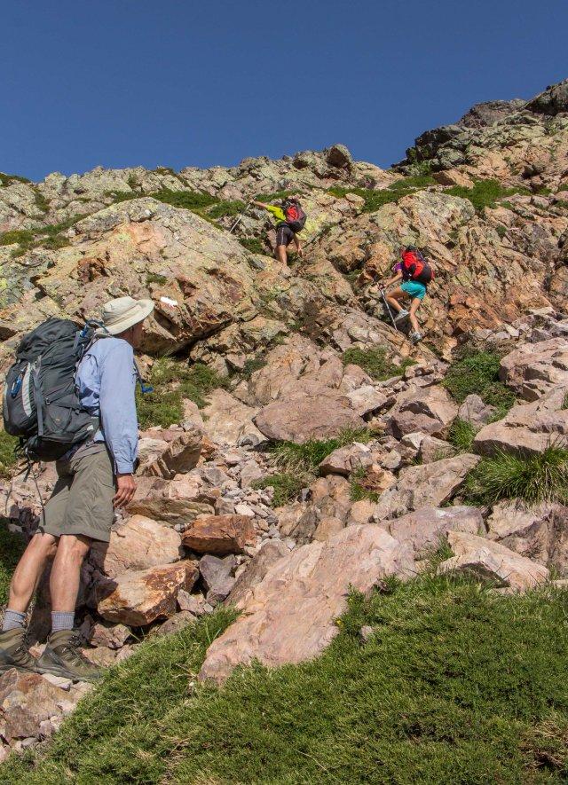 Climb to Bocca di Foggiale