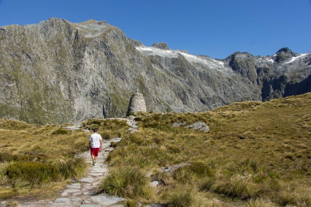 Milford Track  - Climb up to Mackinnon Pass