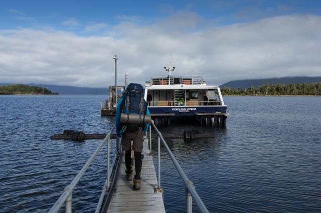 Milford Track - Boat from Te Anau Downs