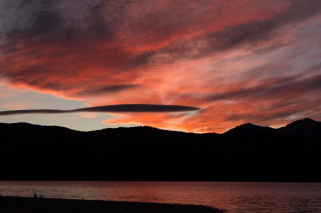 Sunset over Lake Te Anau