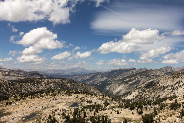 JMT - View from Silver Pass