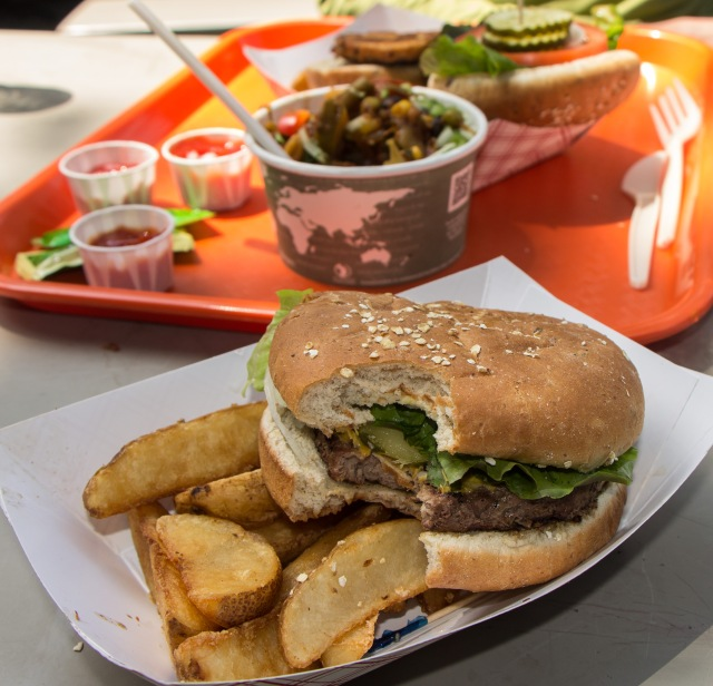 JMT - Burger at Toulumne Meadows