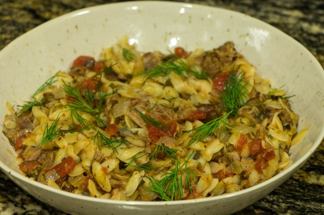Lamb with Orzo Pasta, Greek Style-1