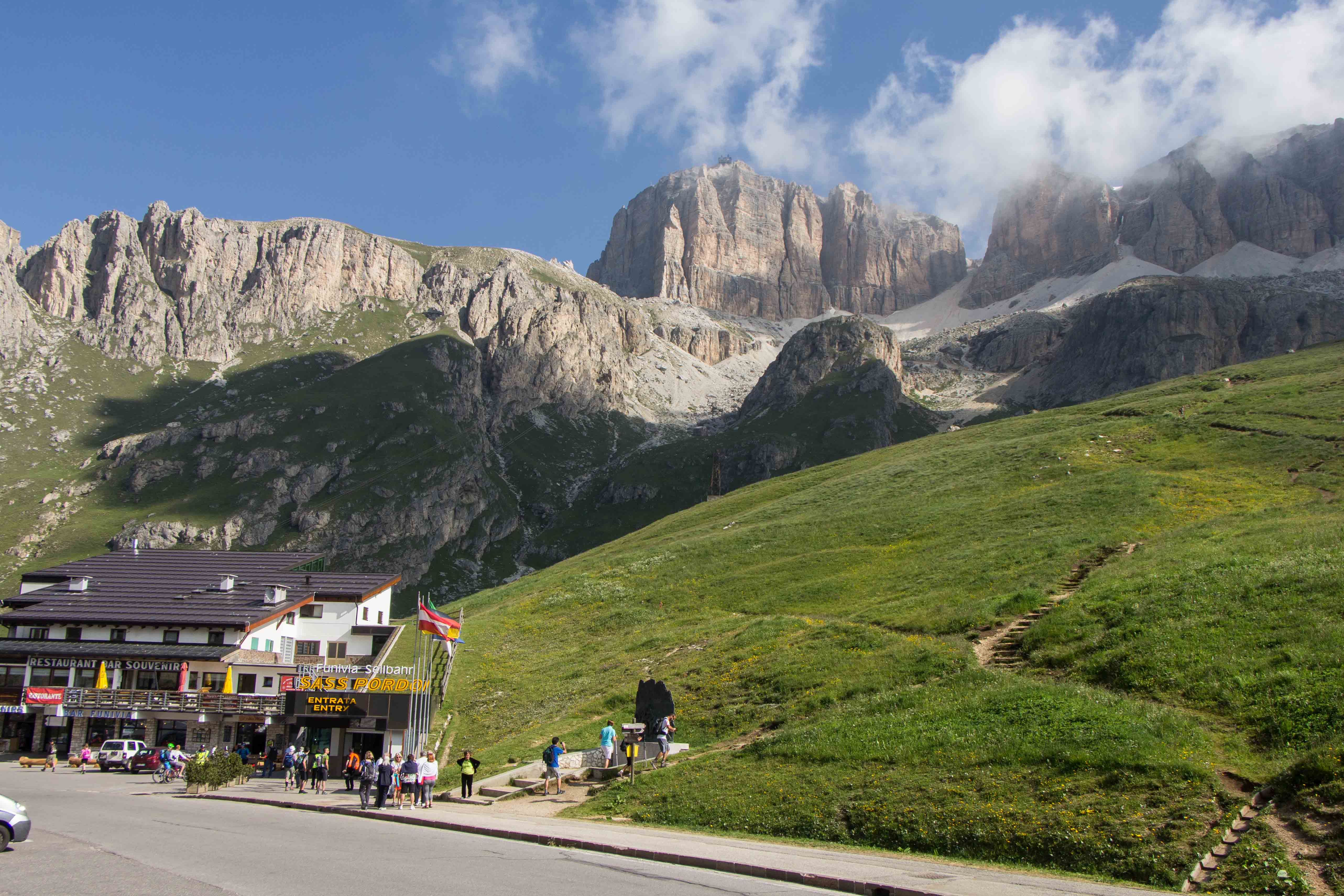 Hike across the sella group val gardena dolomites italy for Where are the dolomites located in italy