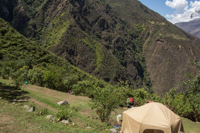 Camp at Choquequirao