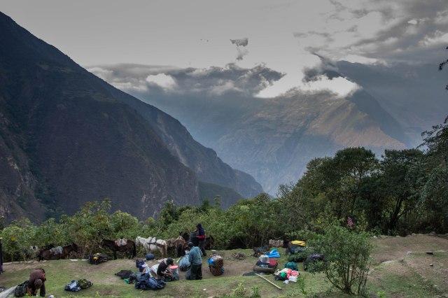 Camp at Choquequirao