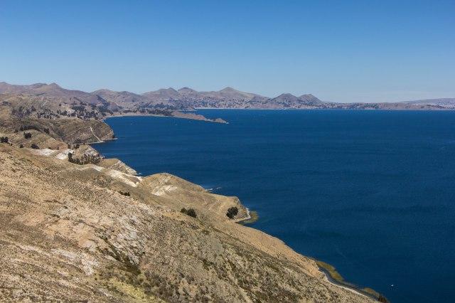 Isla del Sol - trek across island - high route