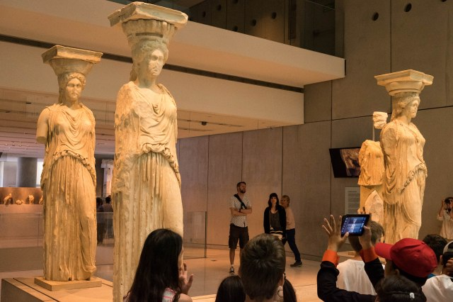 Acropolis Museum - Caryatids from the Erechtheion
