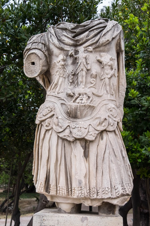 Ancient Agora - Statue of Hadrian