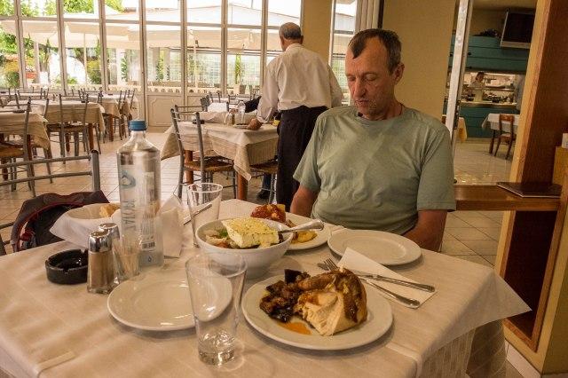 Aigli Restaurant oustide of Pyrgos