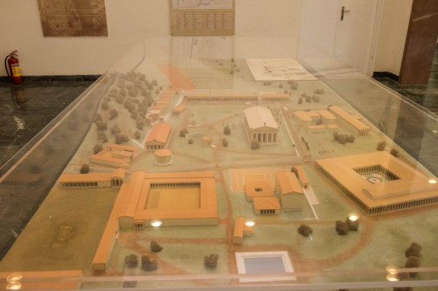 Archaeological Museum of Olympia - Model of the site as it was