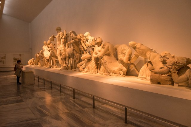 Archaeological Museum of Olympia - West Pediment of the Temple o