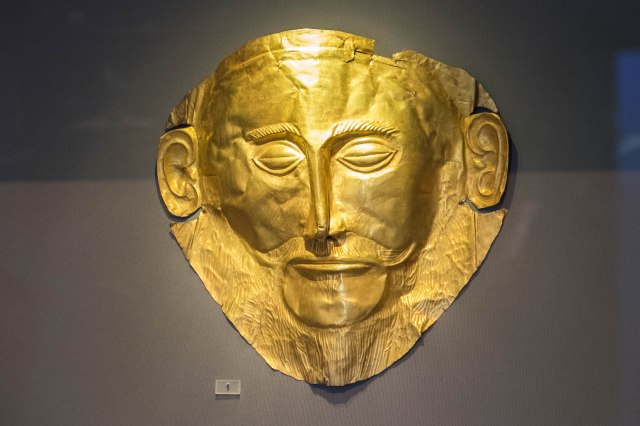 Nat'l Archaeological Museum - Mycenaean Treasures - Mask of Agam