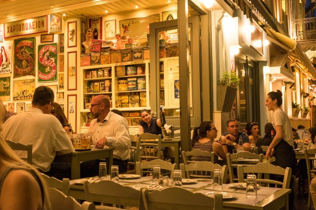 Psirri Neighborhood - Oineas Restaurnt