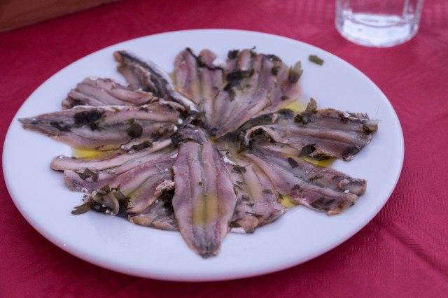 Matoula Taverna - small fish in vinegar