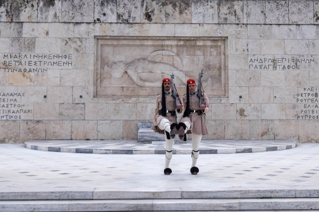 Greek Parliment Building - Changing of the guard