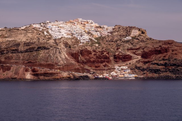 Arriving in Santorini