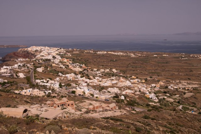 Walk from Oia to Fira - Looking back towards Oia
