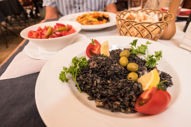Kotor - City Cafe - squid ink risotto