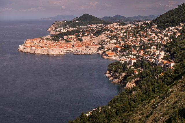 Dubrovnik from road east of town