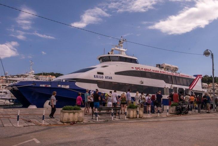Ferry from Dubrovnik to Hvar, Croatia - Wide Angle Adventure