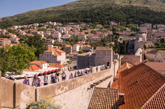 Dubrovnik wall walk - south side of wall