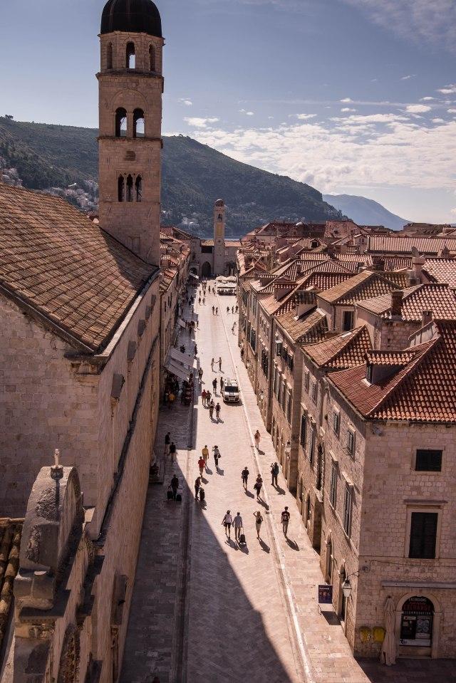 Dubrovnik wall walk - Stradun