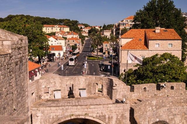Dubrovnik wall walk - Pile Gate