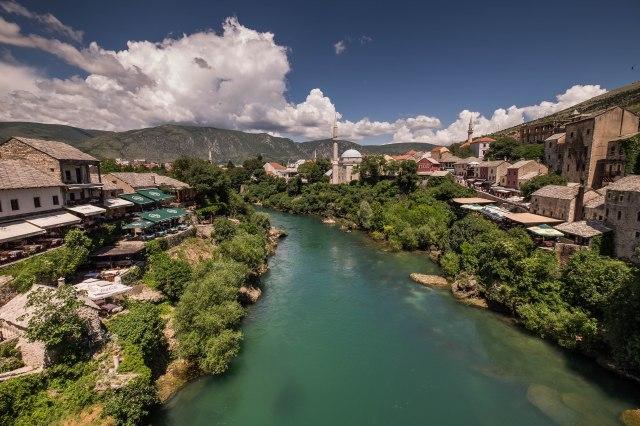 Mostar - View from Old Bridge (Stari Most)