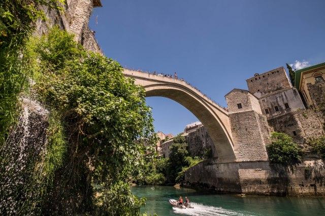 Mostar - below the old bridge