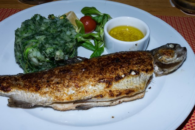 Plitvice Lakes Nat'l Park - Degenija Restaurant - grilled trout