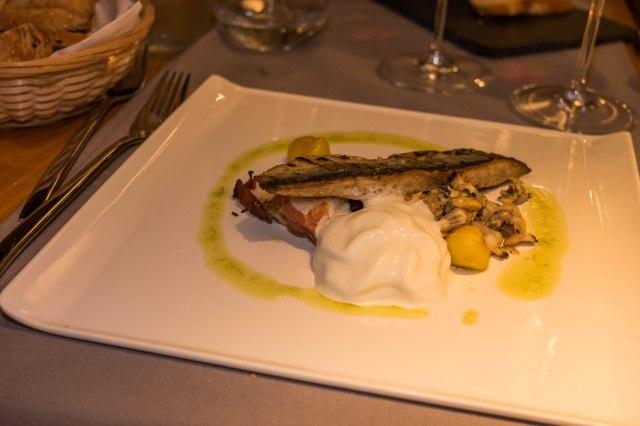 Hvar Town - Lucullus - grilled mackerel